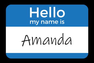 Name Tag - Amanda